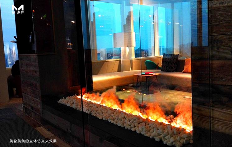 立体仿真火3D雾化壁炉